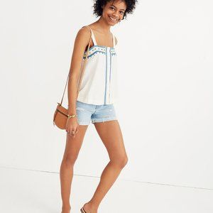 Mirror- Embroidered Tank Top